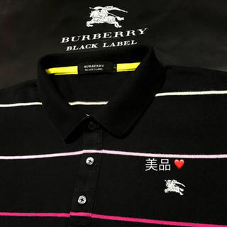 バーバリー(BURBERRY)の☆ 一回着用【日本製】バーバリーブラックレーベル ポロシャツ 2(ポロシャツ)