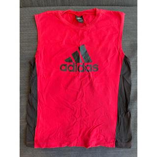 アディダス(adidas)のアディダス 赤 タンクトップ adidas (Tシャツ/カットソー)