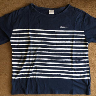 アディダス(adidas)のアディダス 変形ボーダー半袖TシャツMサイズ(Tシャツ(半袖/袖なし))