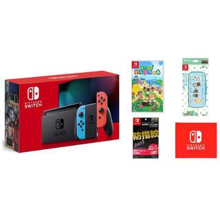 ニンテンドースイッチ(Nintendo Switch)のNintendo Switch 本体 ネオン+ どうぶつの森セット 新品未使用 (家庭用ゲーム機本体)