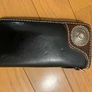 フラットヘッド(THE FLAT HEAD)のフラットヘッド ロングウォレット シルバーコンチョ コードバン(長財布)