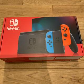 ニンテンドウ(任天堂)の【新品未開封】Nintendo Switch ネオンブルー・ネオンレッド(家庭用ゲーム機本体)