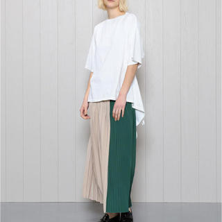UNITED ARROWS - H BEAUTY&YOUTH COLOR BLOCK PLEATED SKIRT
