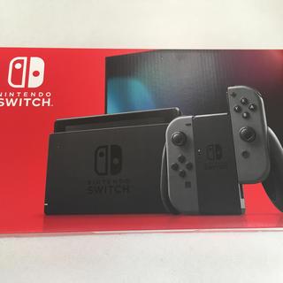 ニンテンドースイッチ(Nintendo Switch)の新品  Nintendo Switch グレー 任天堂 スイッチ 本体 新モデル(家庭用ゲーム機本体)