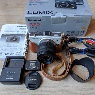 パナソニック(Panasonic)のPanasonic  LUMIX DMC-GF2 ミラーレスカメラ+ズームレンズ(ミラーレス一眼)