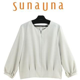 スーナウーナ(SunaUna)の新品 40/L スーナウーナ(sunauna)キーネックブラウス54588065(シャツ/ブラウス(長袖/七分))