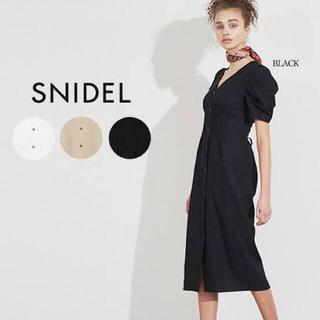 snidel - SNIDEL リネンミディタイトワンピ