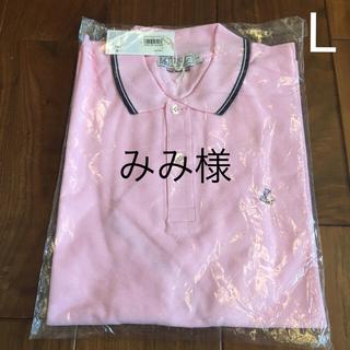 プチバトー(PETIT BATEAU)のメンズポロシャツ   プチバトー   L  ピンク(ポロシャツ)