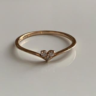 エテ(ete)のete ピンキーリング K18PG ダイヤモンドハート(リング(指輪))