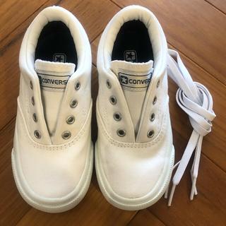 CONVERSE - converseキッズスニーカー SKIDGRIP US 16cm ホワイト 白