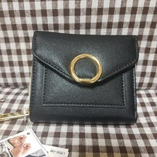 シマムラ(しまむら)のしまむら MUMU  ミニ財布 中黒 新品タグ (財布)