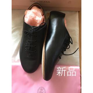 レペット(repetto)の新品 レーヴダンジュール レザーレースアップシューズ 黒 36(ローファー/革靴)