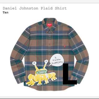 シュプリーム(Supreme)のSUPREME Daniel Johnston Plaid shirt Tan (シャツ)