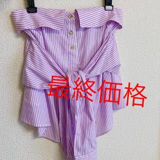 ニーナミュウ(Nina mew)のタグ付き♡ninamew♡シャツベアトップ(シャツ/ブラウス(半袖/袖なし))