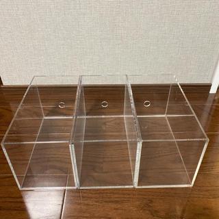 ムジルシリョウヒン(MUJI (無印良品))の無印良品 クリアケース CDボックス 3つセット(CD/DVD収納)
