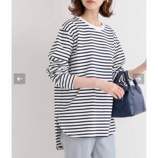 IENA - 新品未使用 ラウンドテールロングTシャツ ネイビー イエナ