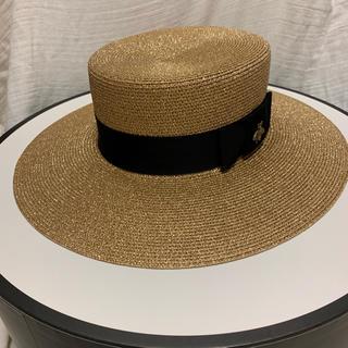 グッチ(Gucci)のGUCCI  ルレックスパピエ ハット カンカン帽 Mサイズ(ハット)