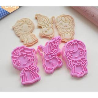 ディズニー アナと雪の女王 エルサ アナ オラフ クッキー型抜き3点セット
