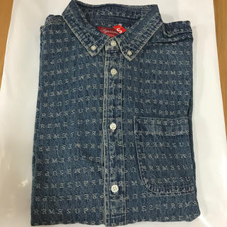 Supreme - Supreme Jacquard Logos Denim Shirt L