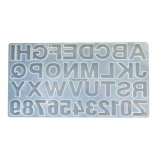シリコンモールド型 アルファベット&数字 特大 裏(型紙/パターン)