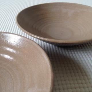 新品/小皿2枚セット/茶(食器)