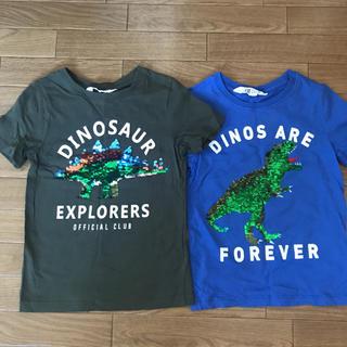 エイチアンドエム(H&M)のキッズ Tシャツ H&M 恐竜(Tシャツ/カットソー)