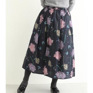 シャンブルドゥシャーム(chambre de charme)のシャンブルドゥシャームきたがわじゅり 紫陽花スカート (ロングスカート)