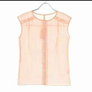 アンタイトル(UNTITLED)のUNTITLED ピンクストライプ ノースリーブシャツ(シャツ/ブラウス(半袖/袖なし))