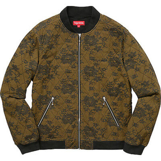 Supreme - supreme quilted lace bomber jacket