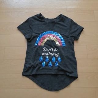 エイチアンドエム(H&M)の92 H&M スパンコール 半袖Tシャツ レインボー(Tシャツ/カットソー)