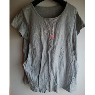ベルメゾン(ベルメゾン)のマタニティ Tシャツ L 授乳服 ディズニー Marie(マタニティトップス)