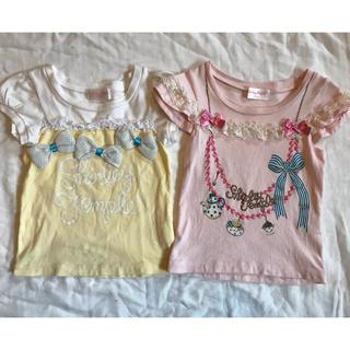 シャーリーテンプル(Shirley Temple)のシャーリーテンプル Tシャツ カットソー 2枚セット 100サイズ(Tシャツ/カットソー)