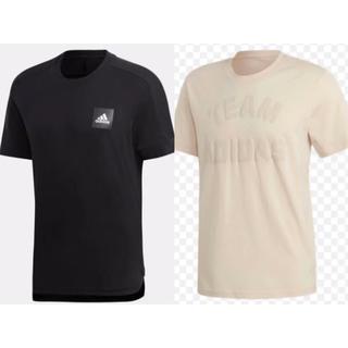 アディダス(adidas)の新品 adidas アディダス メンズ 半袖 Tシャツ 2点セット 黒 ベージュ(Tシャツ/カットソー(半袖/袖なし))