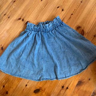 デニム生地スカート(ひざ丈スカート)