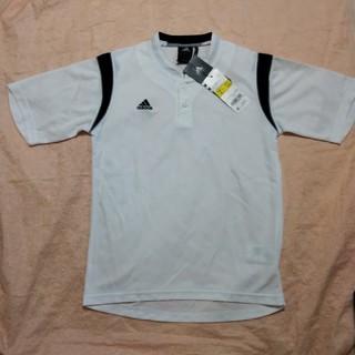 アディダス(adidas)の新品♪アディダス 野球 ドライ半袖ボタンTシャツ  150 練習着 ベースボール(Tシャツ/カットソー)