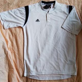 アディダス(adidas)の新品♪アディダス 野球 ドライ半袖ボタンTシャツ  160 練習着 ベースボール(Tシャツ/カットソー)