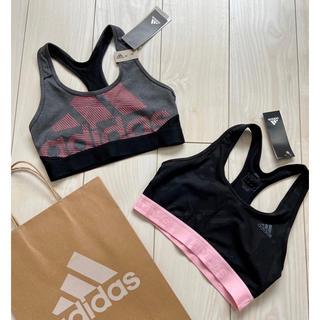 adidas - 新品 adidas スポブラ 2点 ピンク スポーツブラ トレーニングウェア M