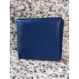 エピ柄  折り財布《ブルー》(折り財布)