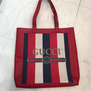 グッチ(Gucci)の☆美品☆GUCCI ロゴ ストライプ トートバッグ トリコロール(トートバッグ)