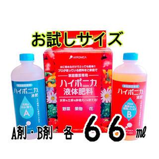 ハイポニカ 液体肥料 お試しサイズA・B剤 各66㎖(その他)