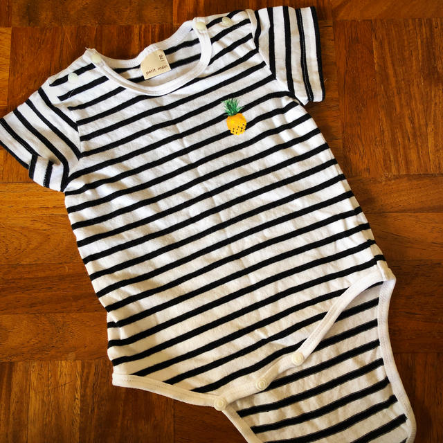petit main(プティマイン)のロンパース キッズ/ベビー/マタニティのベビー服(~85cm)(ロンパース)の商品写真