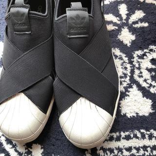 アディダス(adidas)のadidasスリッポン ブラック 28cm(スリッポン/モカシン)
