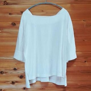 スタディオクリップ(STUDIO CLIP)のブラウス トップス 白 ホワイト Tシャツ カットソー(Tシャツ(半袖/袖なし))