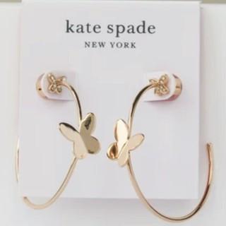 ケイトスペードニューヨーク(kate spade new york)の【新品】kate spade ケイトスペード ピアス フープ 蝶 IN A FL(ピアス)