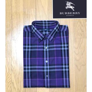 BURBERRY - 美品 バーバリーロンドン【日本製】長袖シャツ Lサイズ