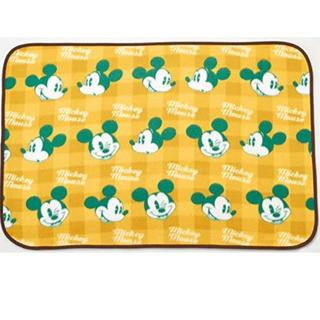 ミッキーマウス(ミッキーマウス)のミッキーマウス チェック柄ブランケット イエロー(おくるみ/ブランケット)