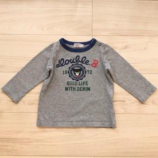 ダブルビー(DOUBLE.B)の【aoi☆ten様予約済】DOUBLE.B長袖シャツ〜80cm(シャツ/カットソー)