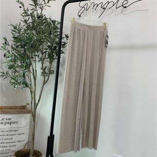 【新品】ルームウェア 海外風 ベロア素材 パンツ(ルームウェア)