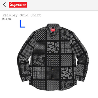 Supreme - Supreme 20ss Paisley Grid Shirt  Black L