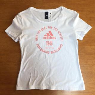 アディダス(adidas)のadidas Tシャツ レディース L  M  S  150 女の子 白Tシャツ(Tシャツ(半袖/袖なし))